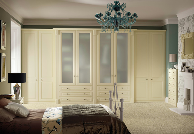 Buckingham Cream Smooth Fitted Bedroom