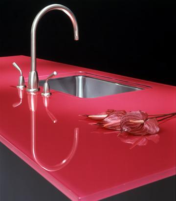 Coloured Glass Worktops
