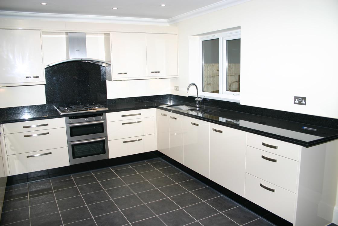 Cream Gloss Kitchen Installation in Epsom Surrey