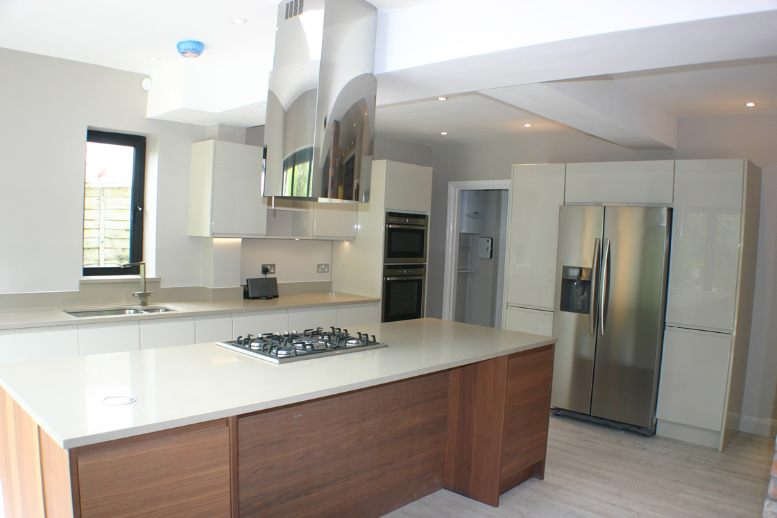 South Sutton Kitchen Extension showing Large Island