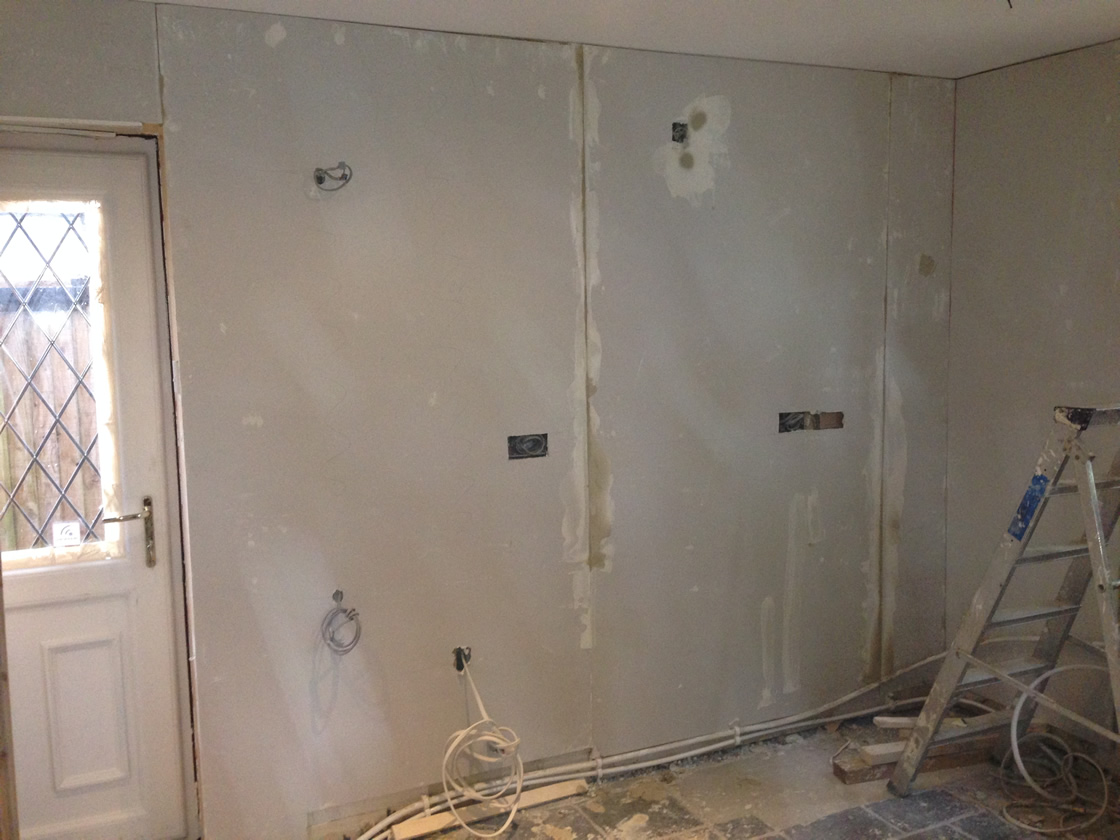 Large Raymer Walk During Construction Plastering