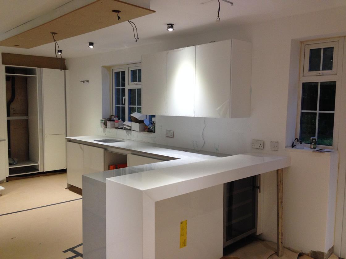 Banstead Kitchen Before Splashback Added