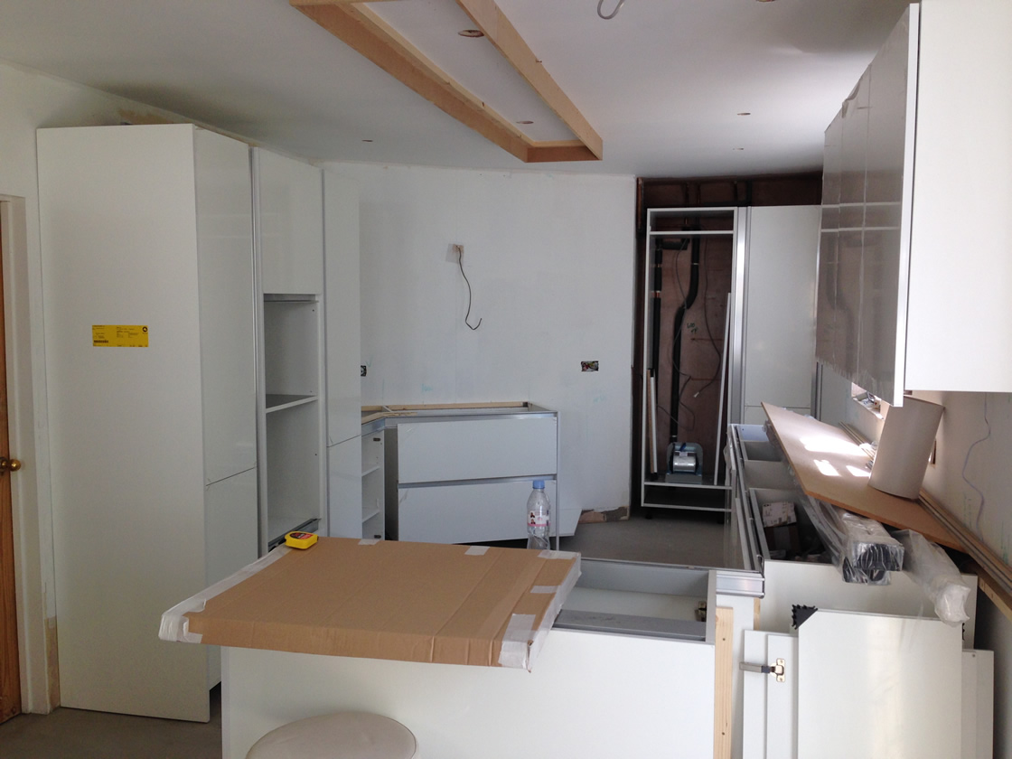 Banstead Kitchen Units Going In