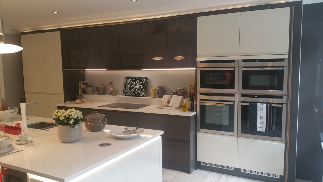 Large Kitchen Showing Double Oven