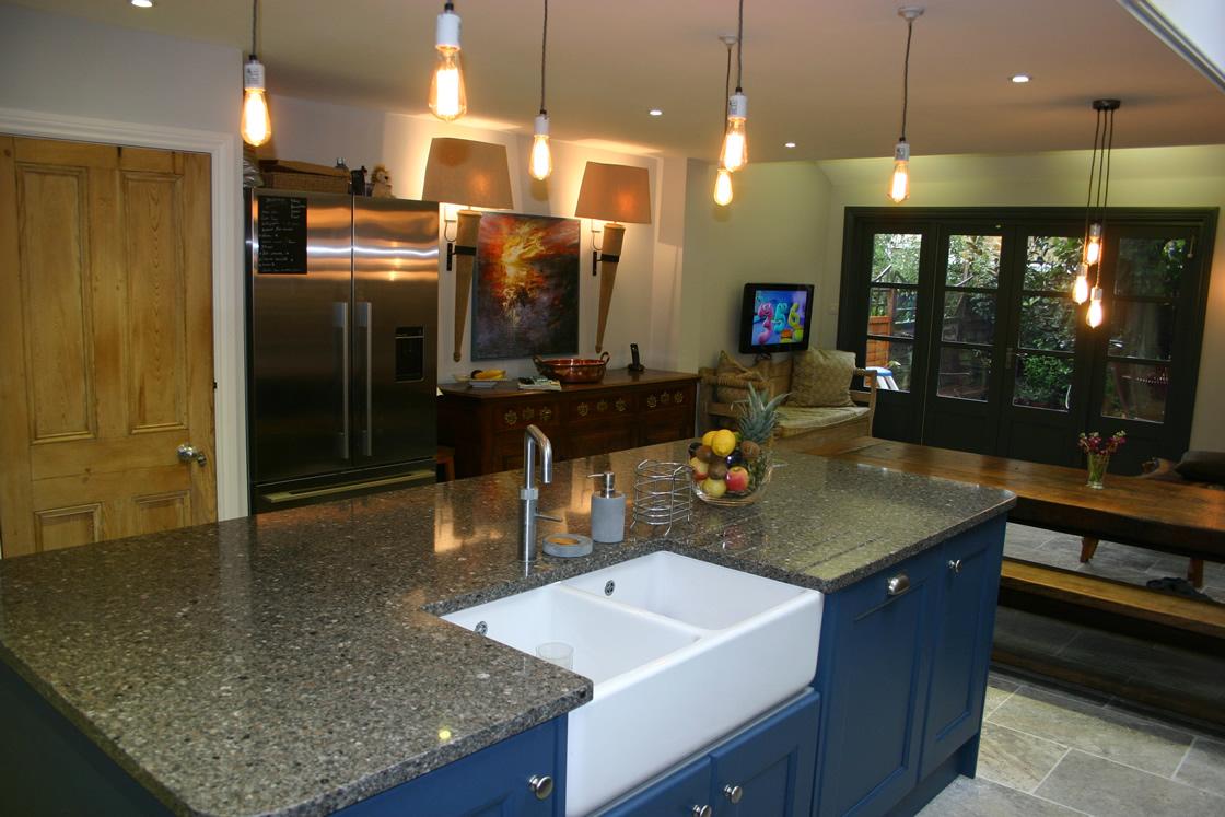 Large Bespoke Kitchen Showing Sink in Island Unit