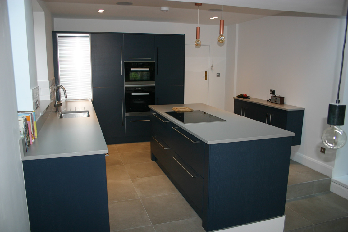 Large Bespoke Kitchen in Paint to Order Colour