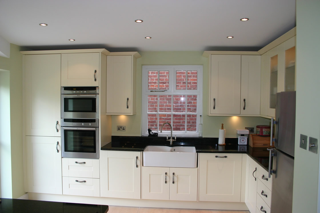 Large Shaker Ivory Kitchen Installed in Reigate