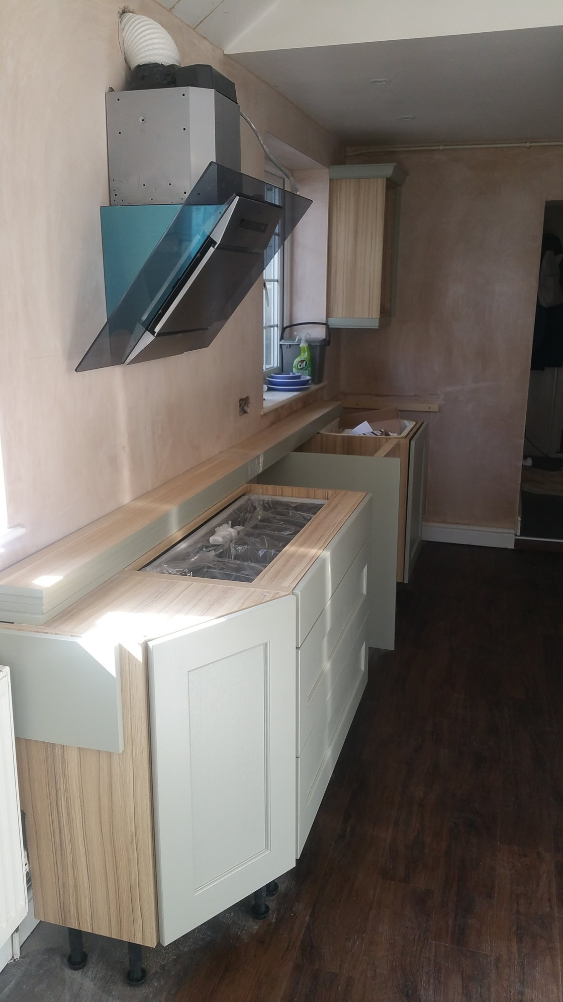 Large New kitchen units going in
