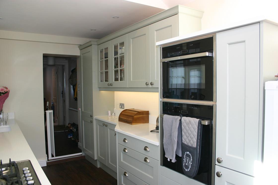 Large Shaker kitchen showing new eye level oven