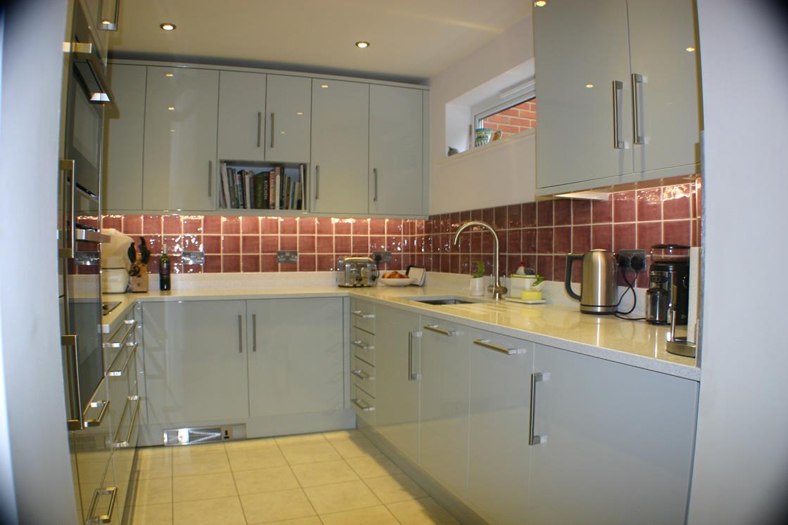 Large Gloss Kitchen Deisgn in Reigate Surrey