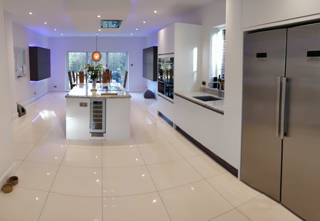 Bletchingley Bespoke Kitchen Design Featuring Double Fridge