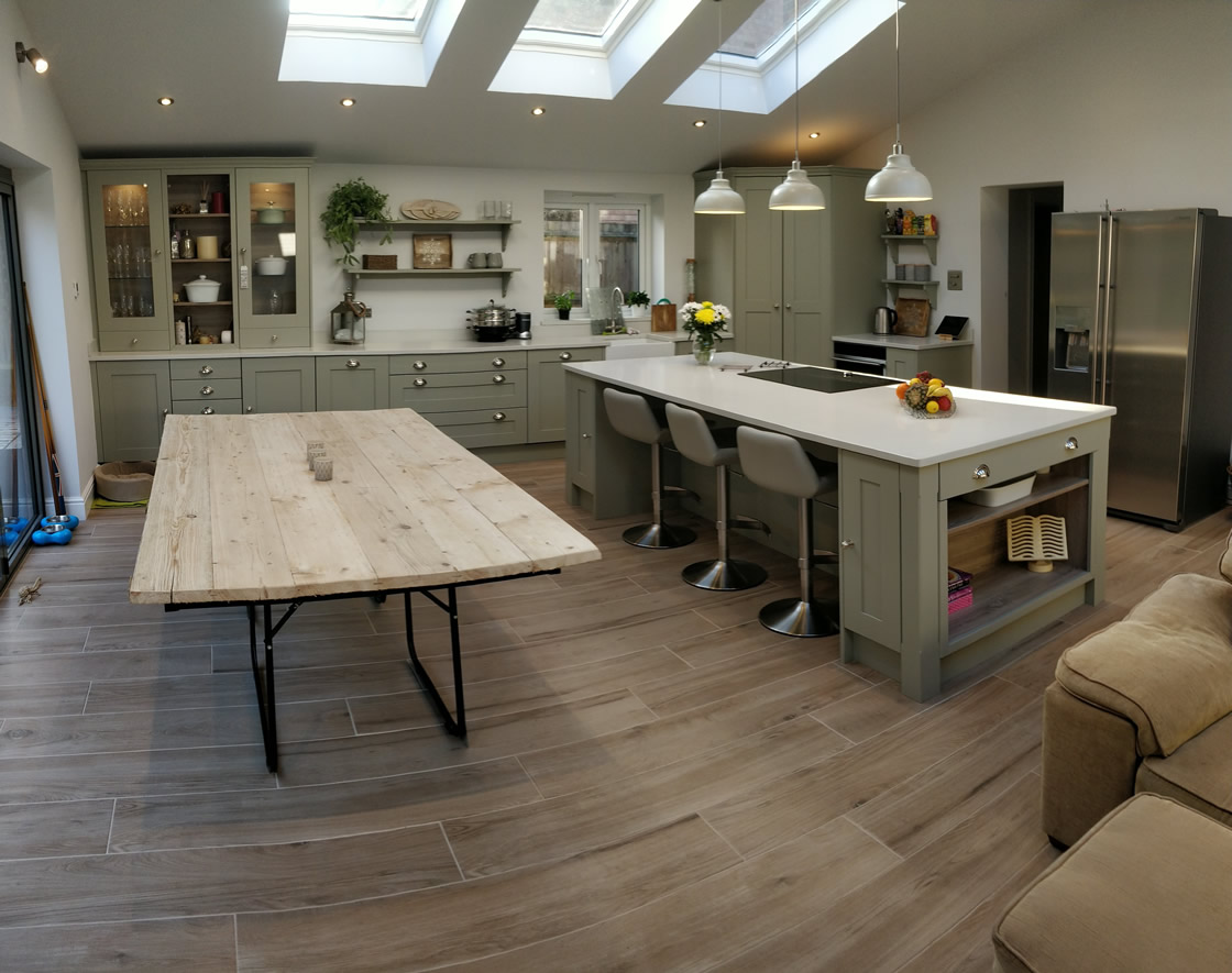 Large Bespoke Kitchen Island and Dining Table