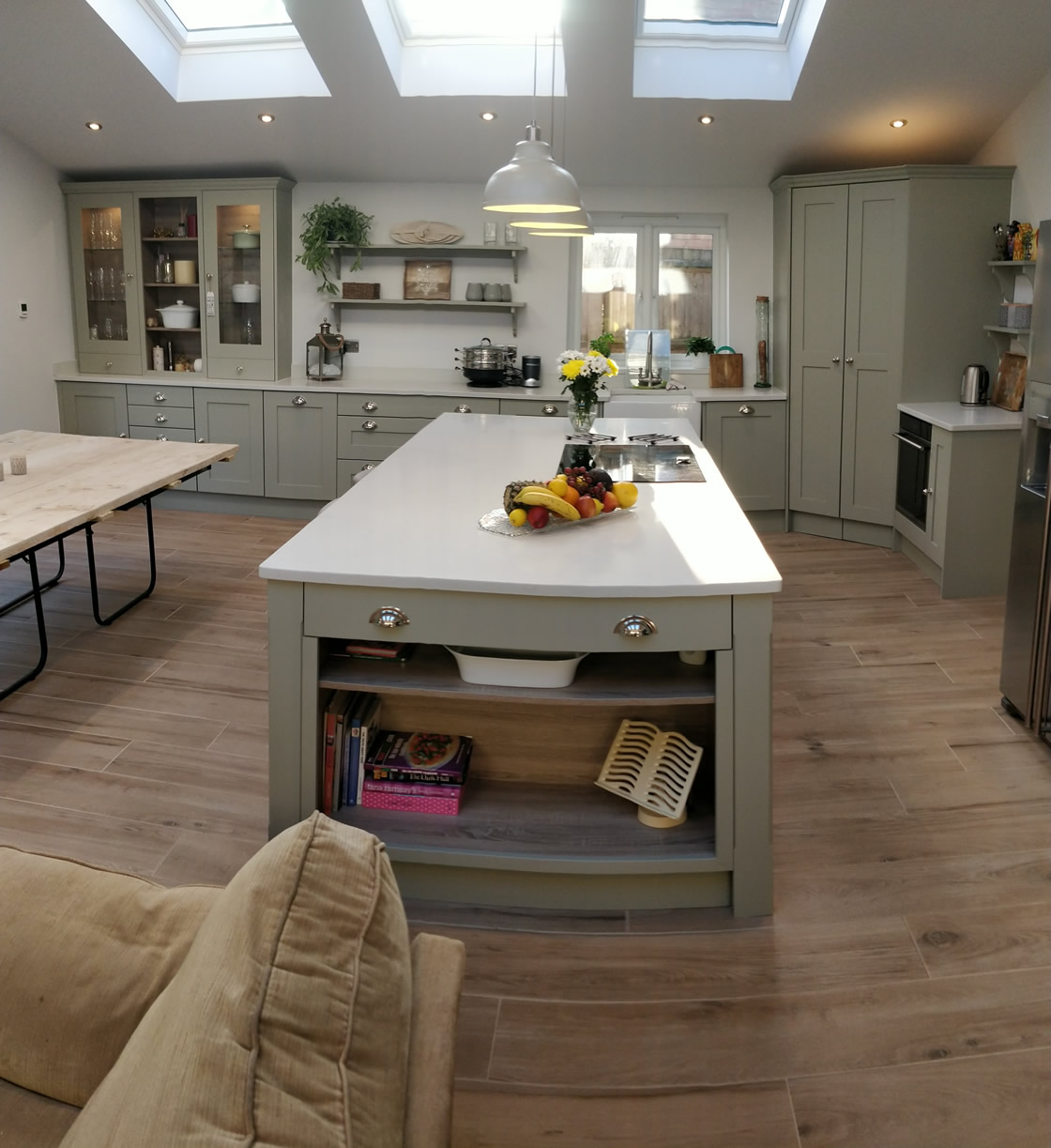 Large Bespoke Kitchen in French Grey