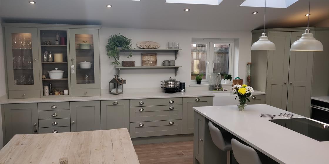 Large Crawley Marble Quartz Kitchen Worktops