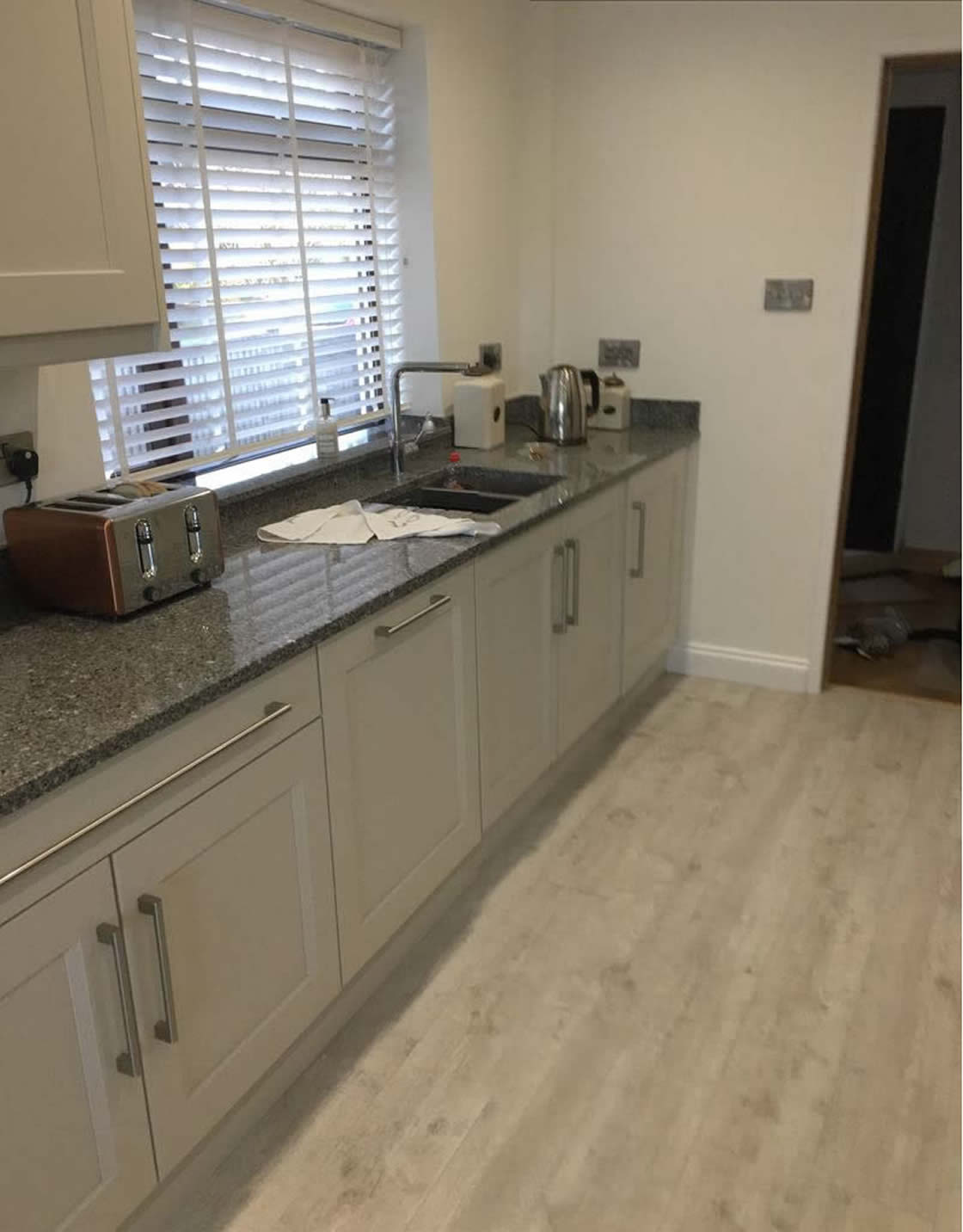 Bespoke Kitchen Installation showing Moduleo HQV Flooring