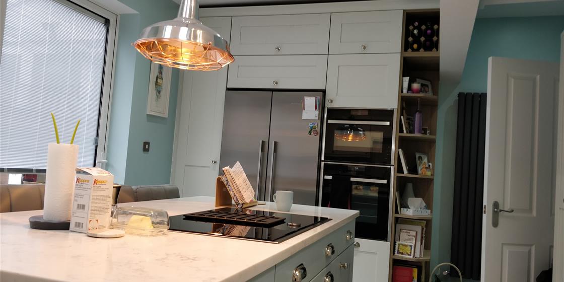 Bespoke Woodgrain Finish Kitchen in Sutton