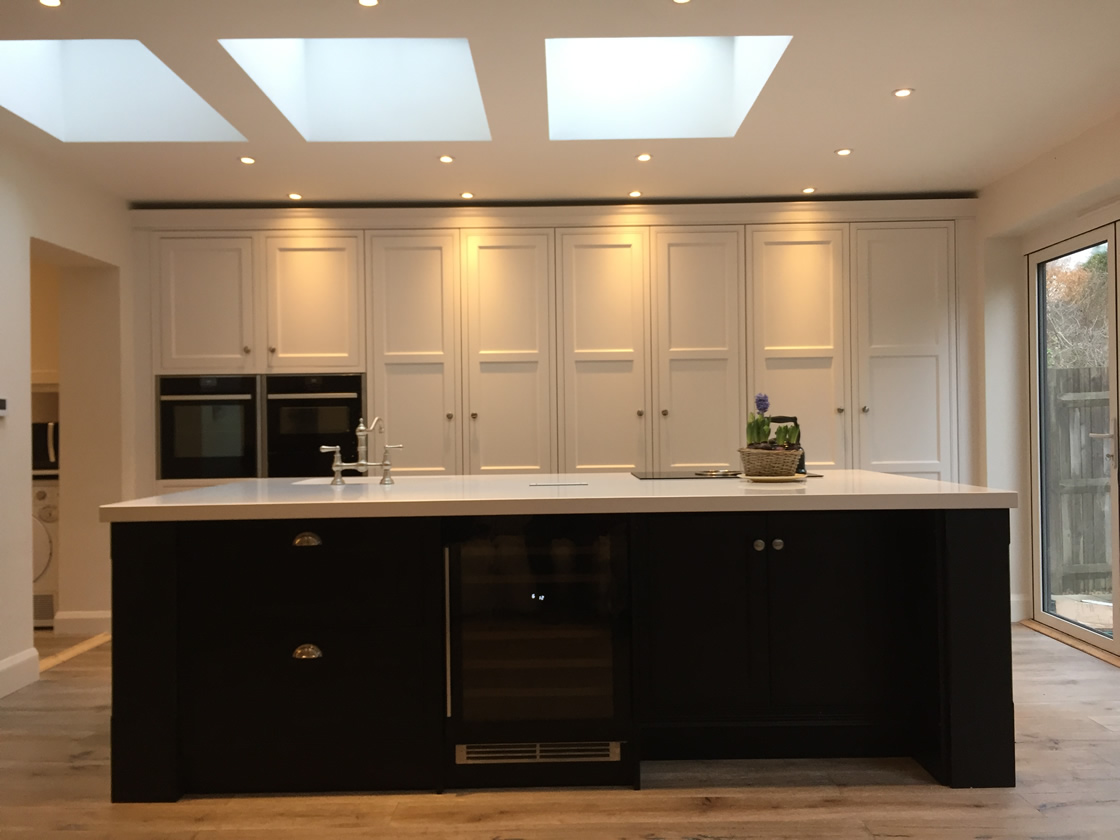 Bespoke Kitchen Showing Light Wells in Ceiling