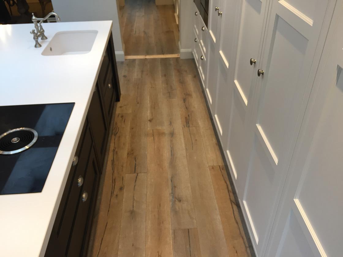 Bespoke Kitchen showing wooden flooring