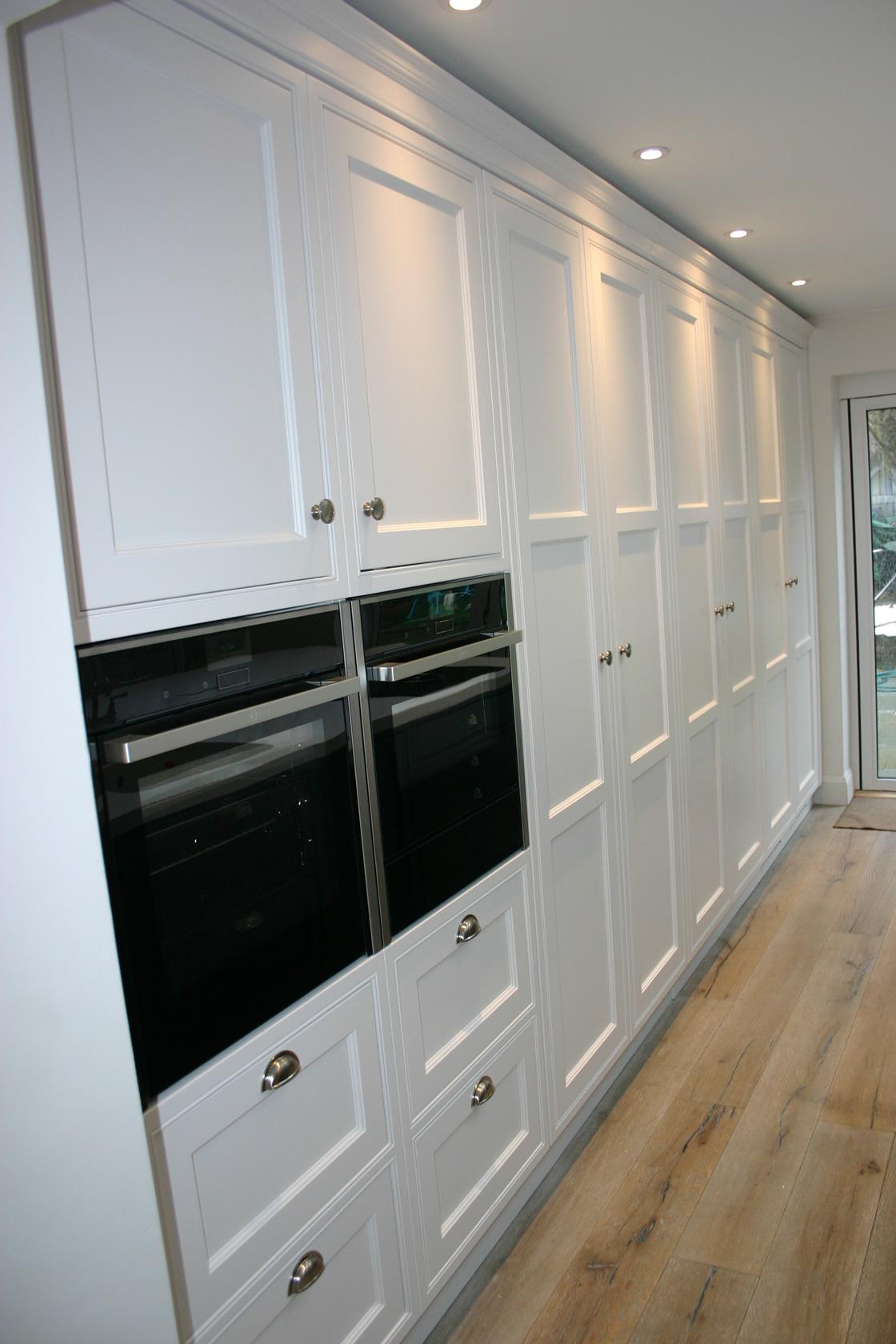 White Ash Tall Kitchen Units Reigate Surrey