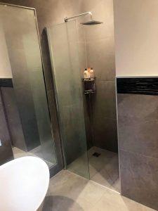 Bespoke Bathroom in Merstham Surrey SHowing Large Walk in Shower