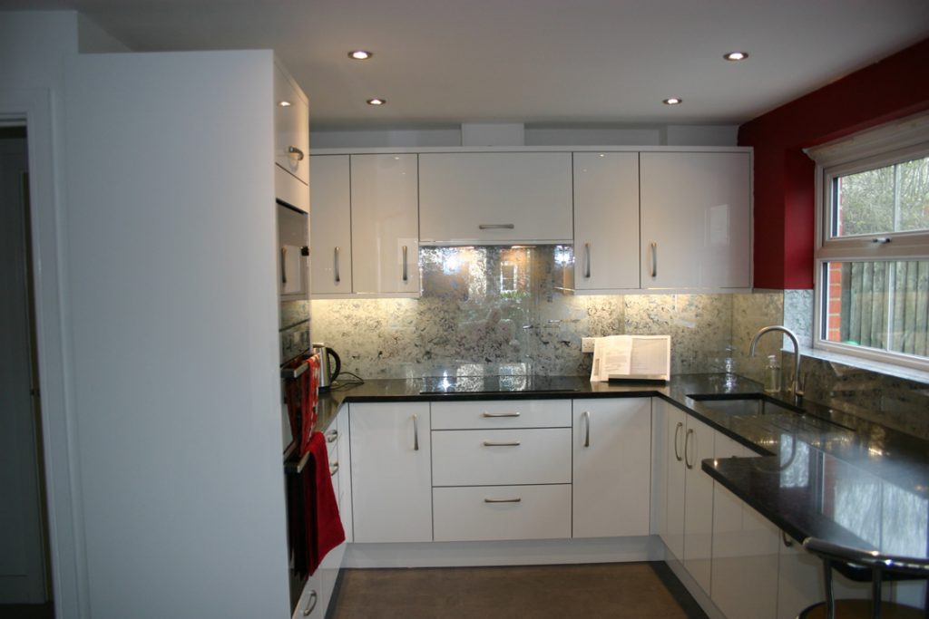 Bespoke High Gloss Acrylic White Kitchen Installation in Redhill