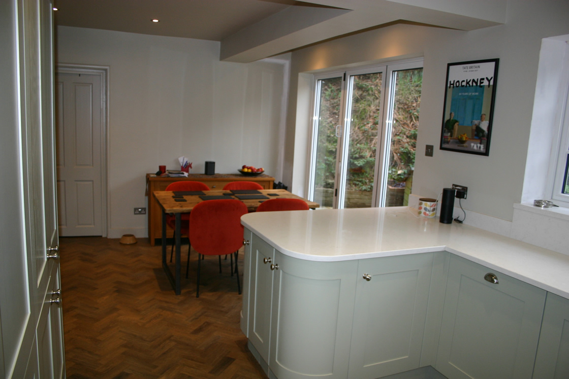 Bespoke Kitchen in Bletchingley Featuring Lemans Corner Pullouts