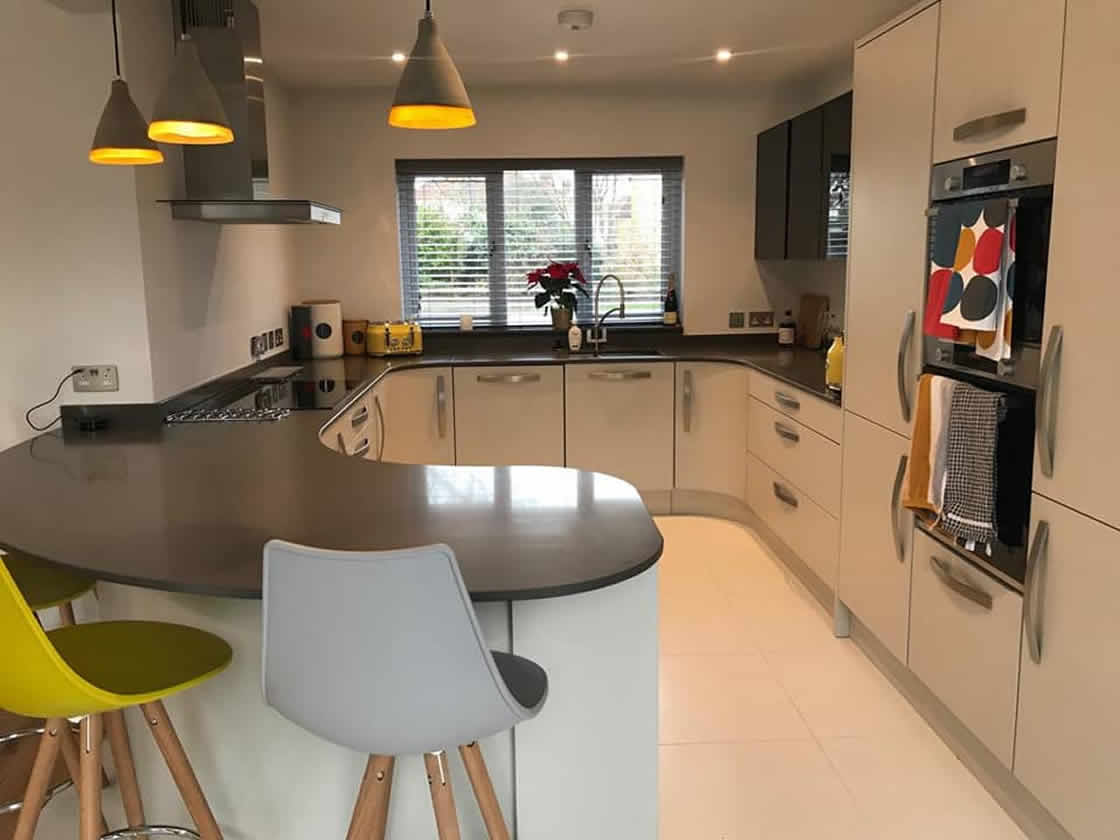 Bespoke Metris Curved Kitchen - Worcester 2