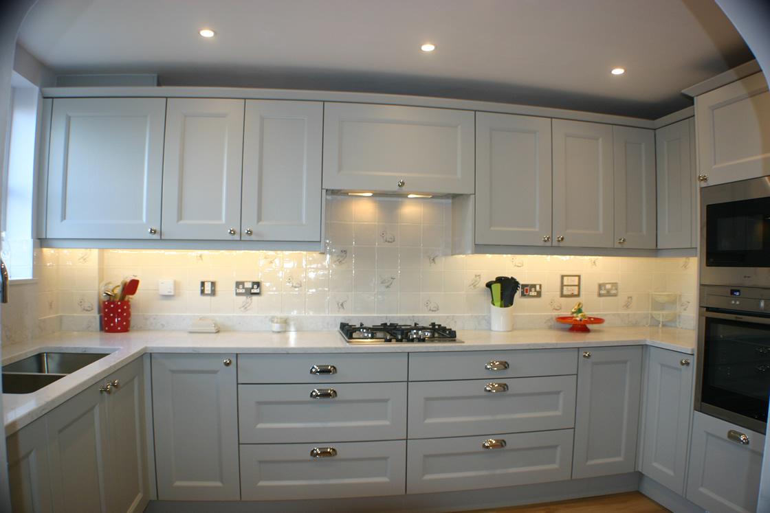 Bespoke Shaker Ash Beaded Kitchen Installation