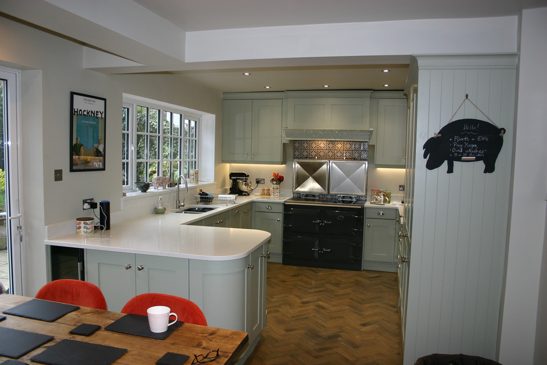 Bespoke Shaker Farrow and Ball French Grey in Bletchingly
