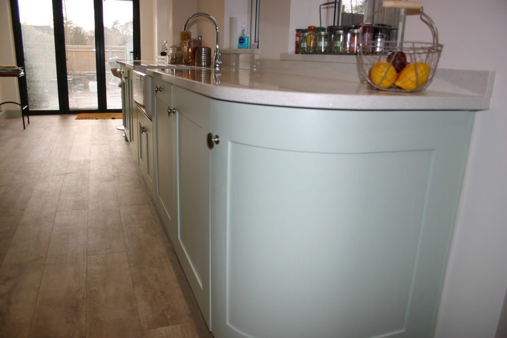 Bespoke Shaker Kitchen Showing Curved End Unit