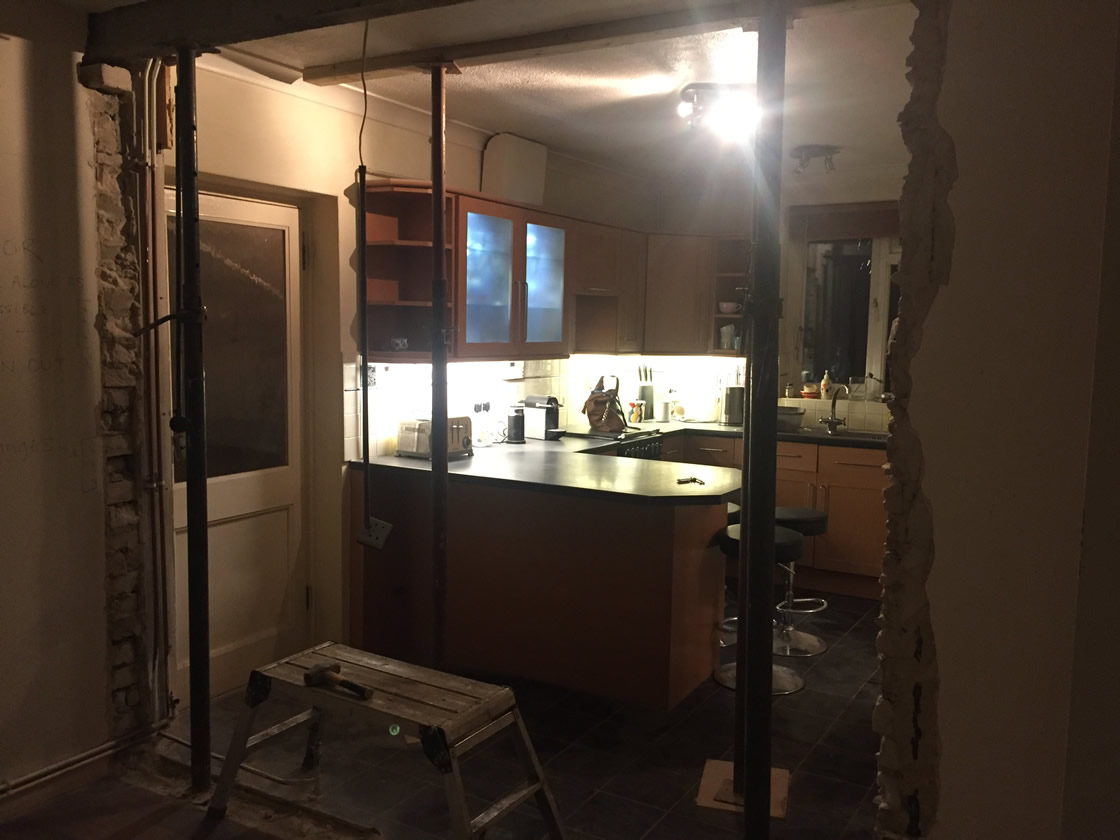 Merstham Kitchen Renovation Showing Wall Removal