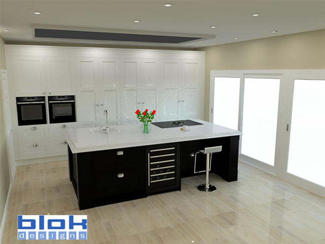 Blok Designs Ref 37 Deerings Rd 3D Kitchen Design Plan