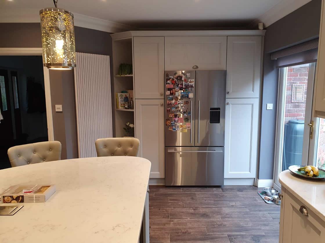 Bespoke Painted Kitchen View to Patio Door