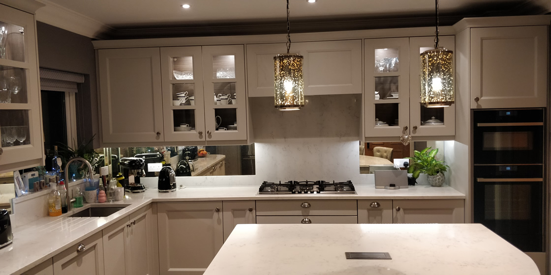 Painted Shaker Kitchen Installation in Epsom