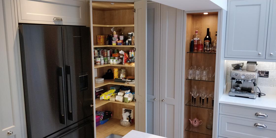 Bespoke In-Frame Effect Grey Kitchen in Surrey