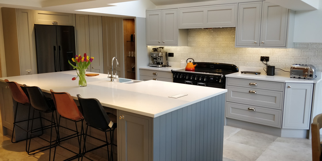 Bespoke In-Frame Effect Kitchen with Large Bespoke Island