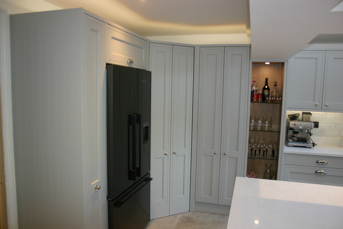 Bespoke In-Frame Effect Kitchen with One Piece Tall Doors