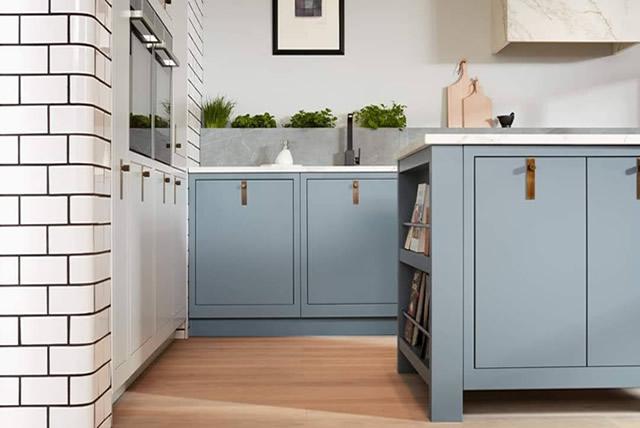 Blue Inframe Kitchen