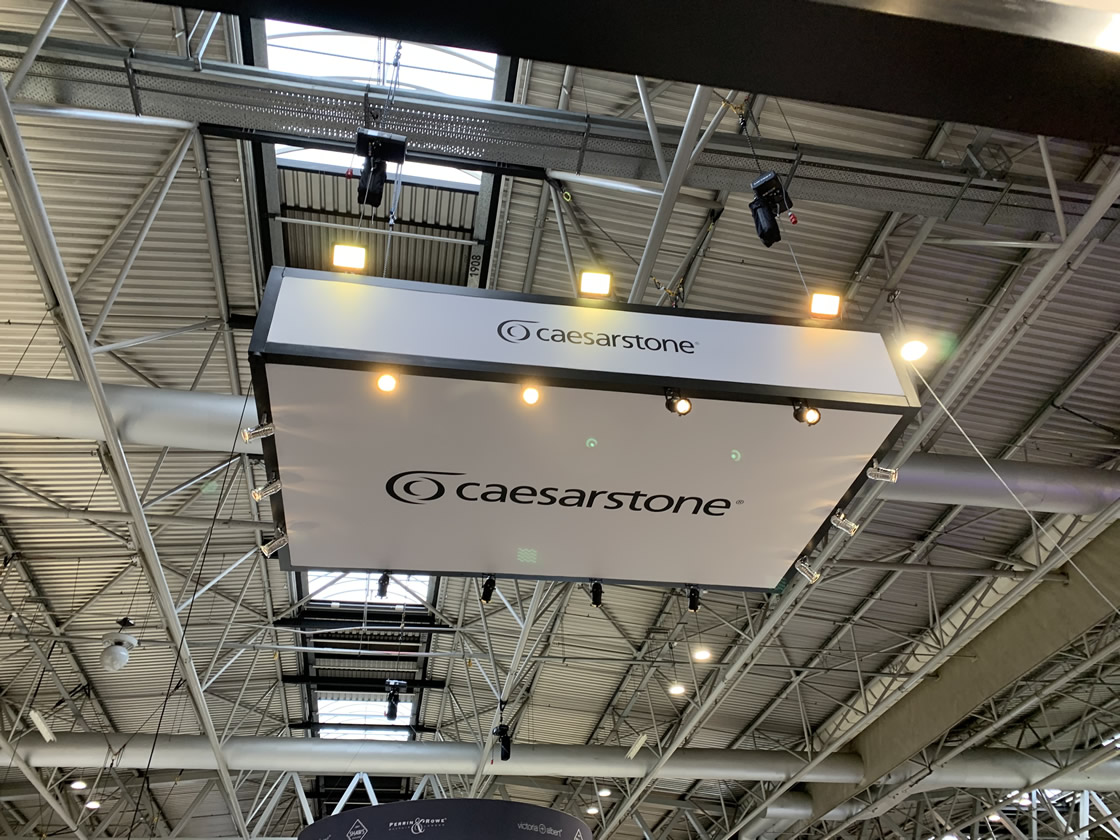 Caeserstone stand roof canopy