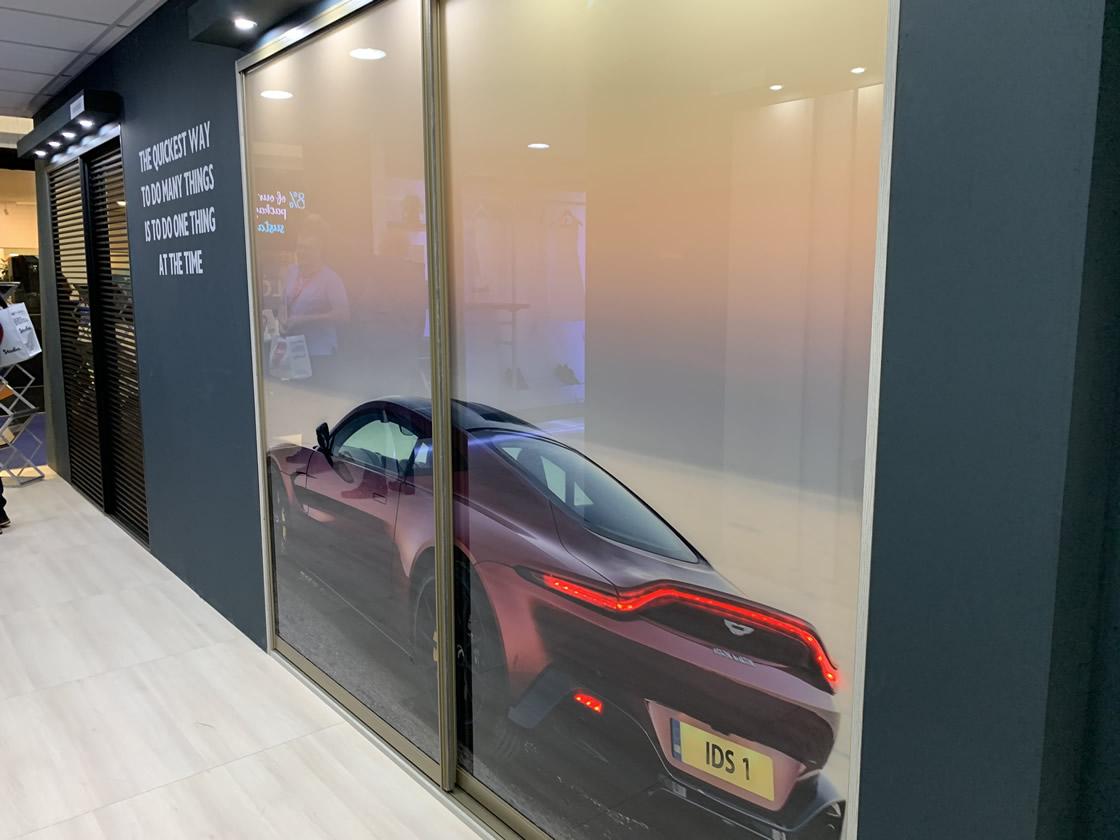 Customised sliding wardrobes display