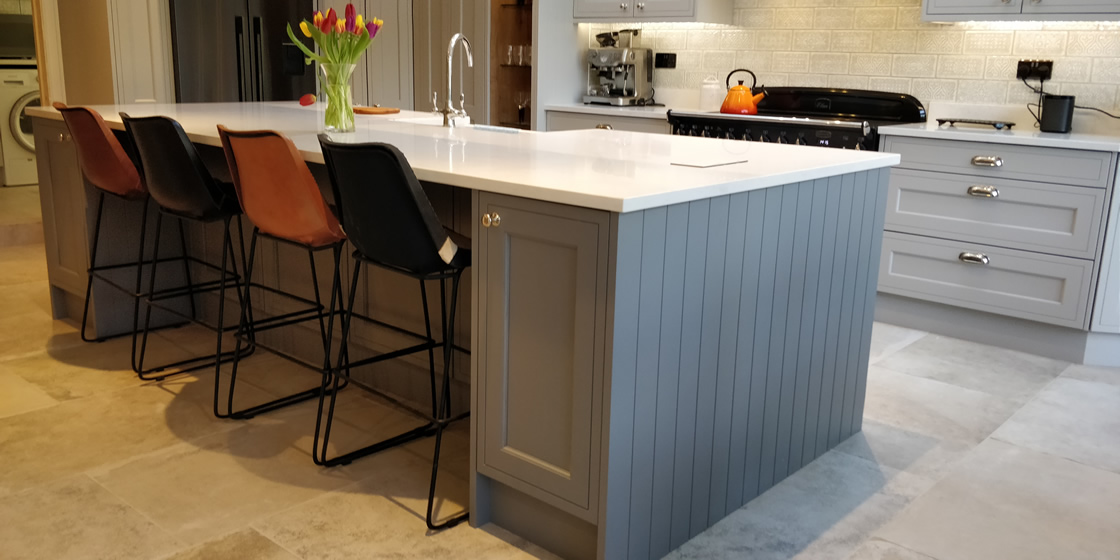Kitchen Island featuring Tonge & Groove End Panels