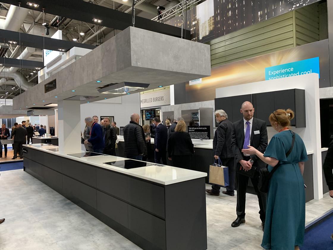 Long grey kitchen display