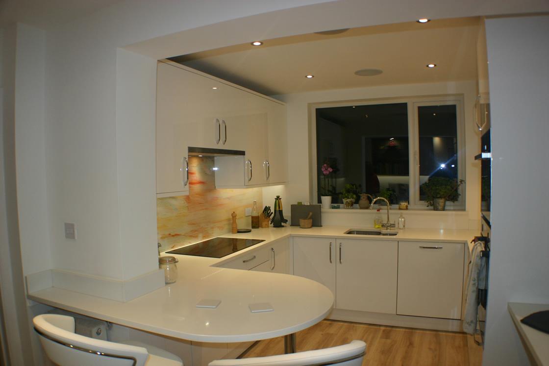 New Kitchen Project with Ceasarstone Quartz Intense White Worktop