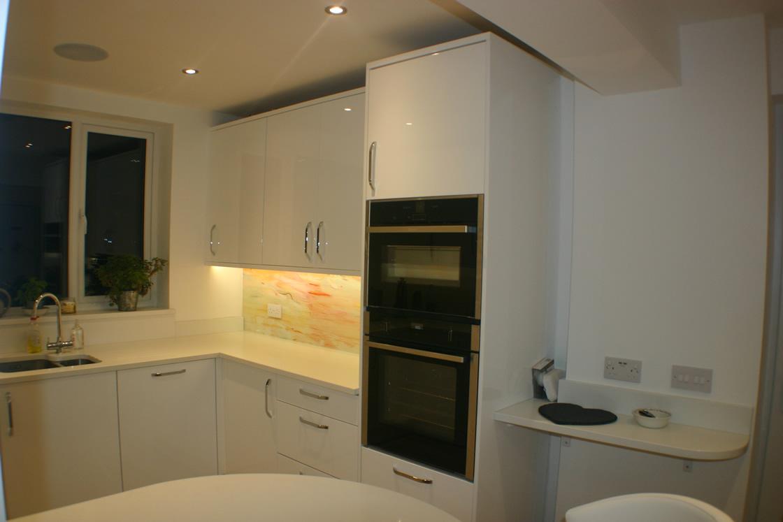 New White Gloss Kitchen in Reigate