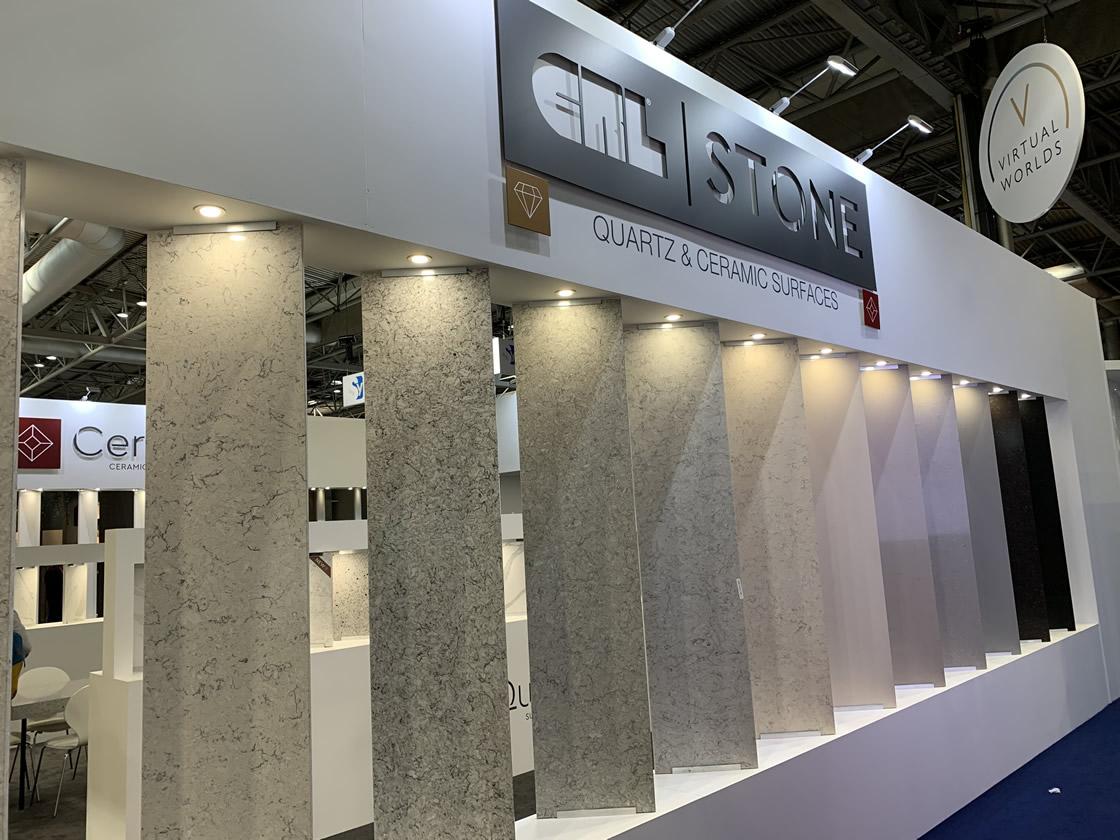 Quartz stone display