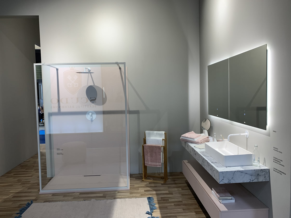 Ultra modern bathroom display