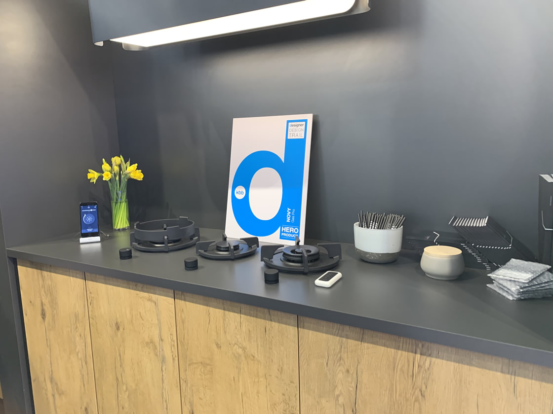 Ultra modern kitchen hob display