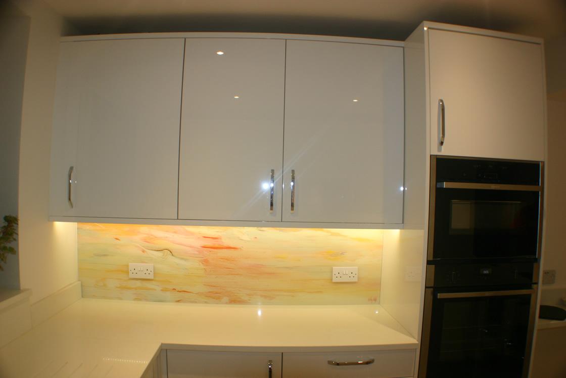 White Gloss Kitchen Design Reigate Surrey