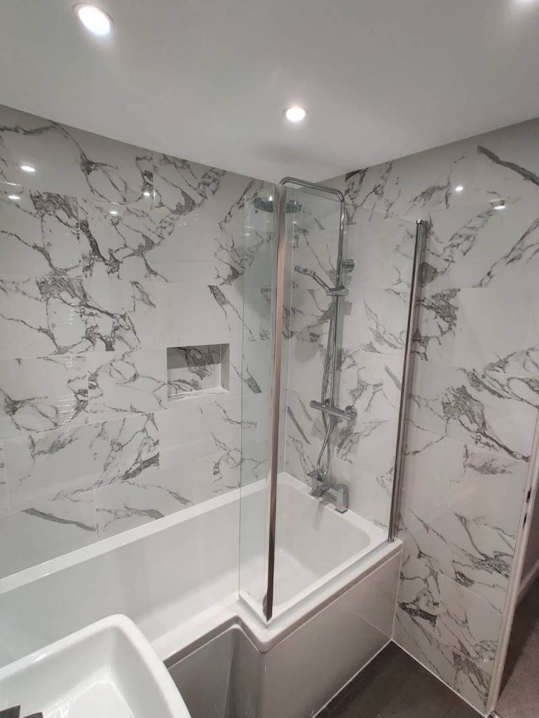 Bespoke Bathroom with Marble Walls