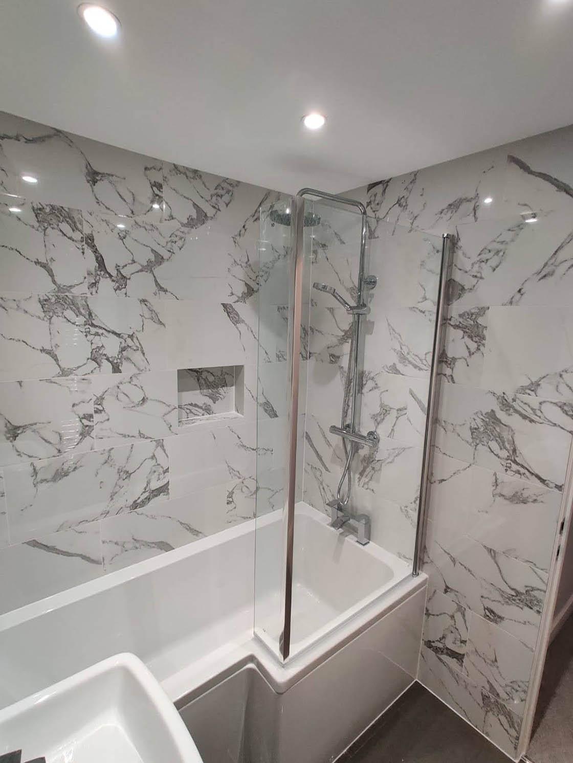 Bespoke Bathroom with Marble Walls